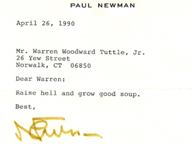 Paul Newman Letter